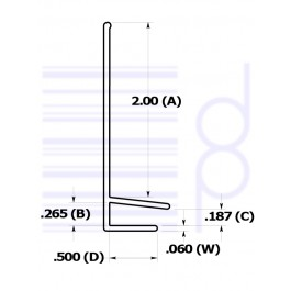 Retainer for 2 IN. shelf (50.8 mm)