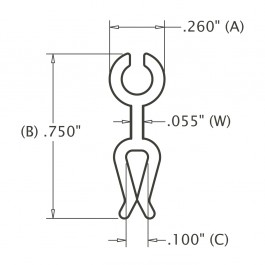 Male Tray Clip