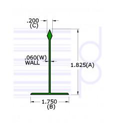 2 IN. Divider Green 36 IN.