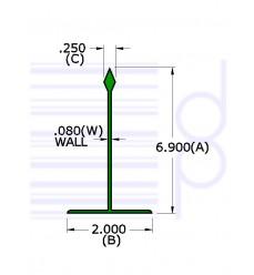 7 IN. Divider Green  30 IN. Long