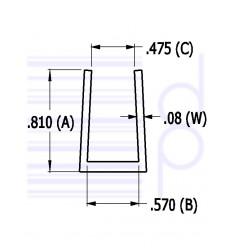 1/2 IN. U-Channel (12.700 mm)