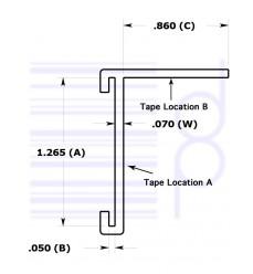 1-1/4 IN. C-Channel Tkt Holder (31.7500 mm)