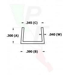 """Canal Tipo """"U"""" De 3/8"""" (9.525 mm)"""