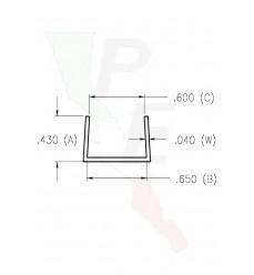 """Canal Tipo """"U"""" De 5/8"""" (15.875 mm)"""
