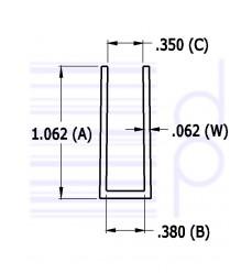 3/8 IN. U-Channel (9.525 mm)