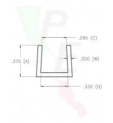 """Canal Tipo """"U"""" De 5/16"""" (5.937 mm)"""