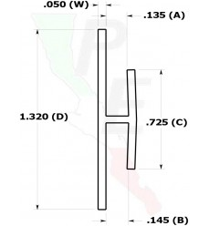 """Canal Tipo """"H"""" De 1/8"""" (3.175 mm)"""