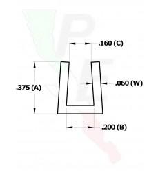 """Canal Tipo """"U"""" De 3/16"""" (4.762 mm)"""