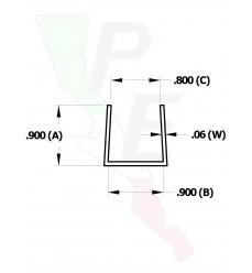 """Canal Tipo """"U"""" De 7/8"""" (22.225 mm)"""