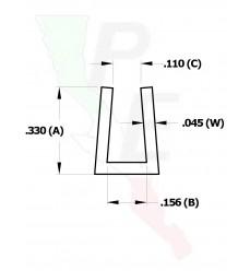 """Canal Tipo """"U"""" De 1/8"""" (3.175 mm)"""