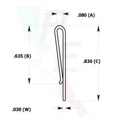 """Canal Tipo """"J"""" para asimiento de tiras"""