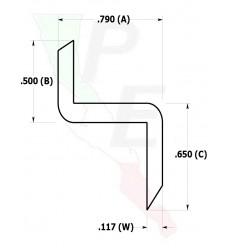"""Barra tipo """"Z"""" De 3/4"""" (19.050 mm)"""