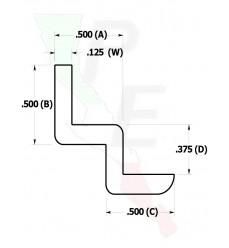 "Barra Tipo ""W"" De 1/2"" (12.700 mm)"