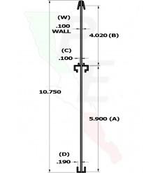 """Poraprecio de doble canal 2 caras de 10 /34"""" x 12 1/2"""""""