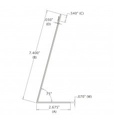 7-1/4 Serrated Easel (184.15 mm)