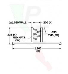 """Portaletrero Versa Grip de 1""""  con base grande"""