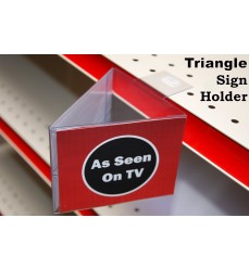 Two Sided Triangle Aisle Sign Holder